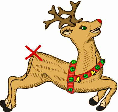 Pin the tail on the reindeer