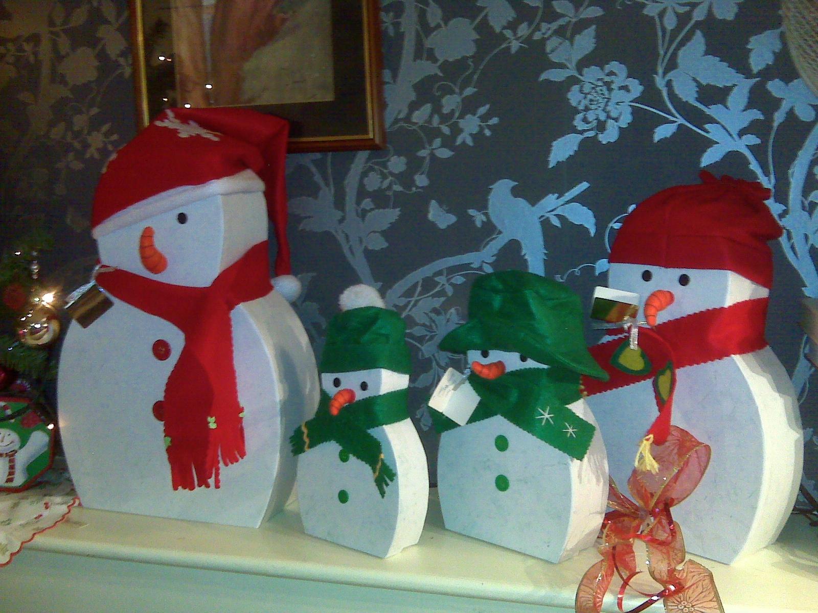 Christmas Snowmen Decorations.Photos Of Your Christmas Decorations The Wonder Of Christmas