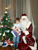 Child meeting Ded Moroz